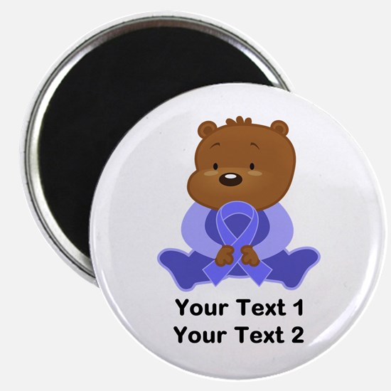 Personalized Periwinkle Awareness Bear Magnets