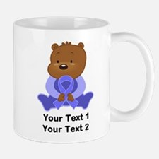 Personalized Periwinkle Awareness Bear Mugs
