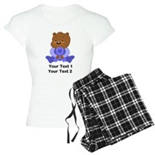Personalized Periwinkle Awareness Bear Pajamas