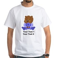 Personalized Periwinkle Awareness Bear T-Shirt