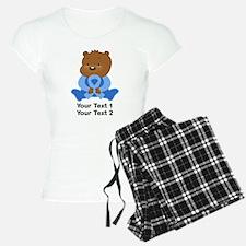 Light Blue Awareness Bear Pajamas