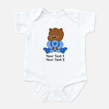 Light Blue Awareness Bear Infant Bodysuit