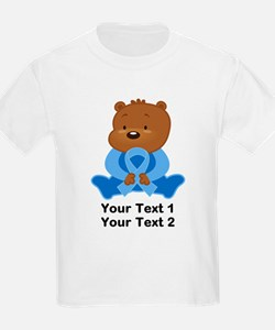 Light Blue Awareness Bear T-Shirt