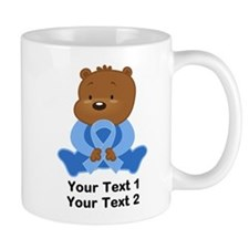 Light Blue Awareness Bear Mug