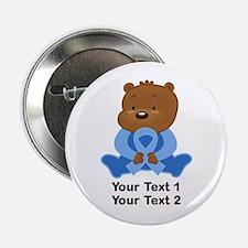 """Light Blue Awareness Bear 2.25"""" Button"""