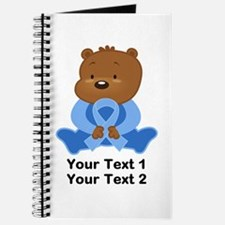 Light Blue Awareness Bear Journal