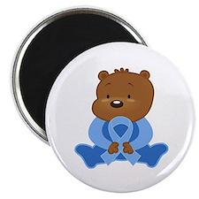Light Blue Awareness Bear Magnet