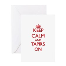 Keep calm and Tapirs On Greeting Cards