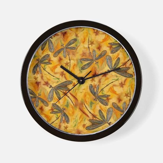 Dragonfly Flit Warm Breeze Wall Clock