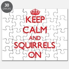 Keep calm and Squirrels On Puzzle