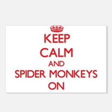 Keep calm and Spider Monk Postcards (Package of 8)