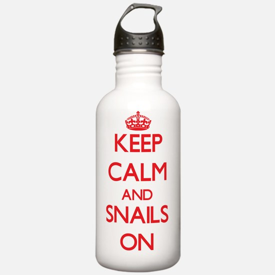 Keep calm and Snails O Water Bottle