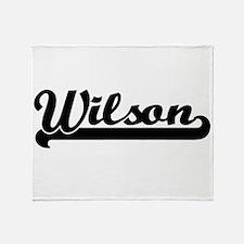 Wilson surname classic retro design Throw Blanket