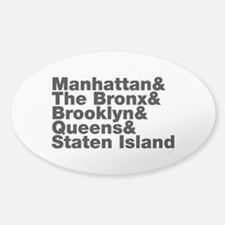 Five Boroughs New York City Decal
