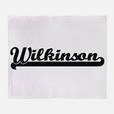 Wilkinson surname classic retro desi Throw Blanket