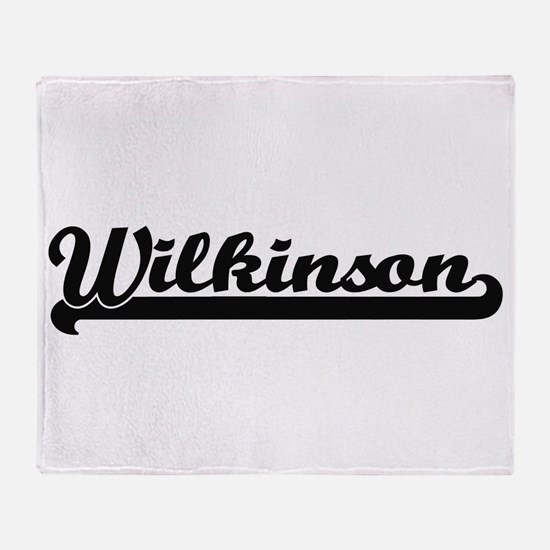 Wilkinson surname classic retro desi Throw Blanket
