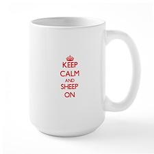 Keep calm and Sheep On Mugs