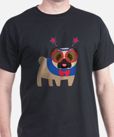 Funny 4th of July Pug T-Shirt