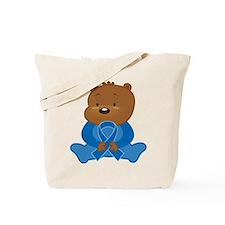 Blue Awareness Bear Tote Bag
