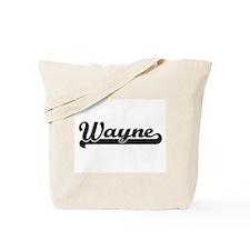 Wayne surname classic retro design Tote Bag