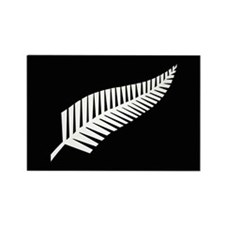 Silver Fern Flag Rectangle Magnet