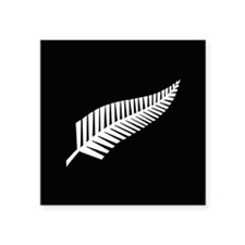 "Silver Fern Flag Square Sticker 3"" x 3"""