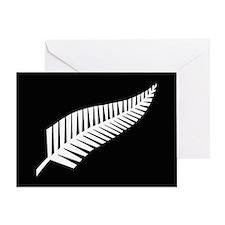 Silver Fern Flag Greeting Card