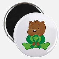 Green Awareness Bear Magnet