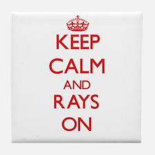 Keep calm and Rays On Tile Coaster