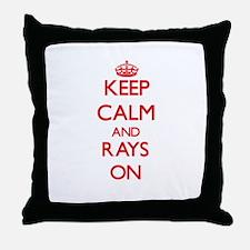 Keep calm and Rays On Throw Pillow