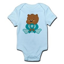 Teal Awareness Bear Infant Bodysuit