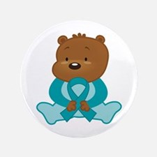 Teal Awareness Bear Button