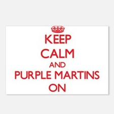 Keep calm and Purple Mart Postcards (Package of 8)
