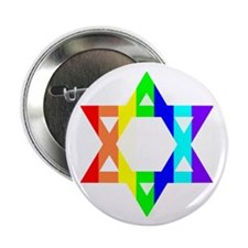Rainbow Star of David (Dark T Button