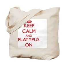 Keep calm and Platypus On Tote Bag