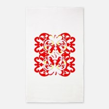 Red pattern Area Rug