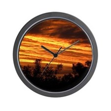 Sunset in Canberra Wall Clock