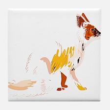 Fading fox Tile Coaster