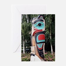 Native American Totem Pole, Anchora Greeting Cards