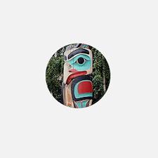 Native American Totem Pole, Anchorage Mini Button