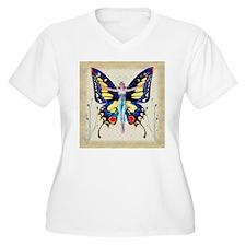 Art Deco Leyendecker Lady B'fly Plus Size T-Shirt