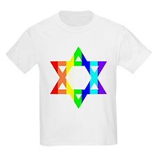 Rainbow Star of David (Dark T T-Shirt