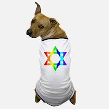 Rainbow Star of David (Dark T Dog T-Shirt