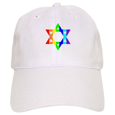 Rainbow Star of David (Dark T Cap