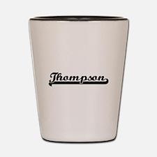 Thompson surname classic retro design Shot Glass