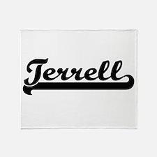 Terrell surname classic retro design Throw Blanket