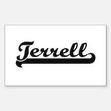 Terrell surname classic retro design Decal