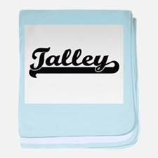 Talley surname classic retro design baby blanket