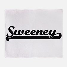 Sweeney surname classic retro design Throw Blanket