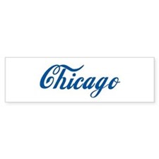 Chicago (cursive) Bumper Bumper Stickers